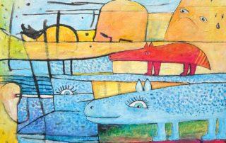 The Red Tapir · Acryl auf Leinen · 60 x 80 cm · 2020 · 1.200,00 Euro