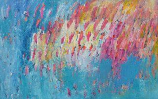 Regenbogenland · Acryl auf Leinen · 75 x 115 cm · 2020 · 850,00 Euro