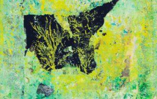 Pipistrello · Collage und Acryl auf Leinen · 30 x 30 cm · 2020 · 250,00 Euro