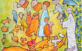 The Monk · Acryl auf Leinen · 60 x 80 cm · 2020 · 750,00 Euro